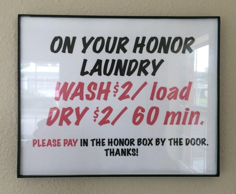 Honor Pay Laundry Area
